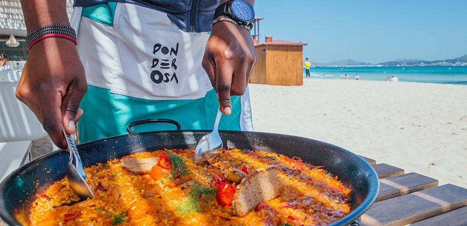 F Ponderosa beach paella sea sand