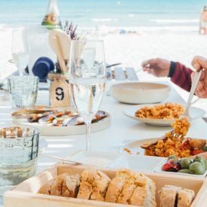 Ponderosa Beach Mallorca Paella beach lunch