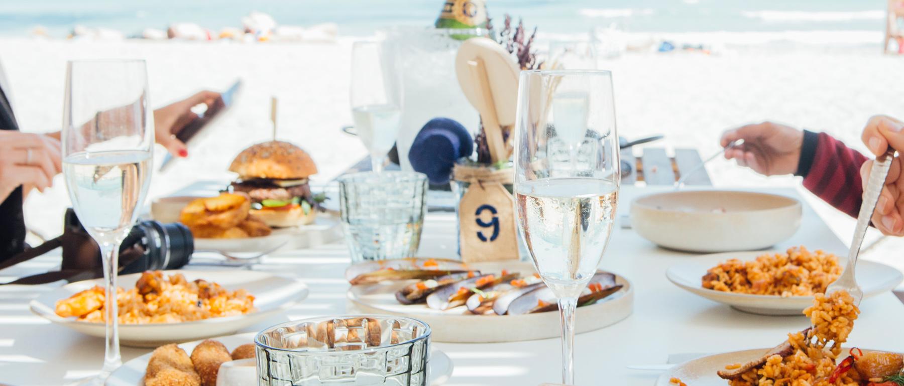 Restaurante en la playa de Mallorca